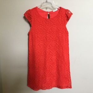 Boutique EVERLY red lace mini dress S